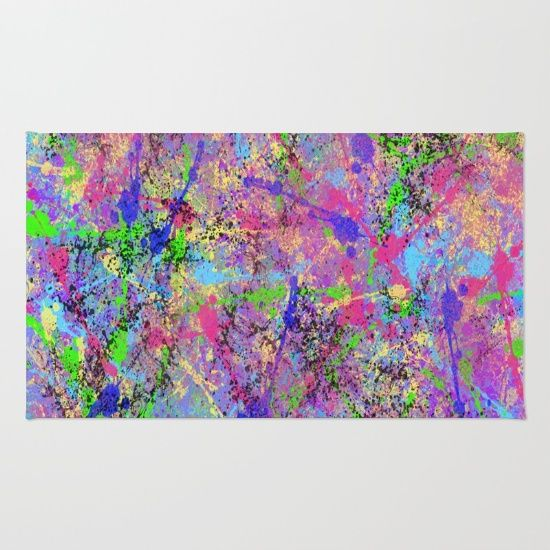 colorful, crazy, funky, bright, digital painting, creative, art, paint splattered everywhere, paint splatter