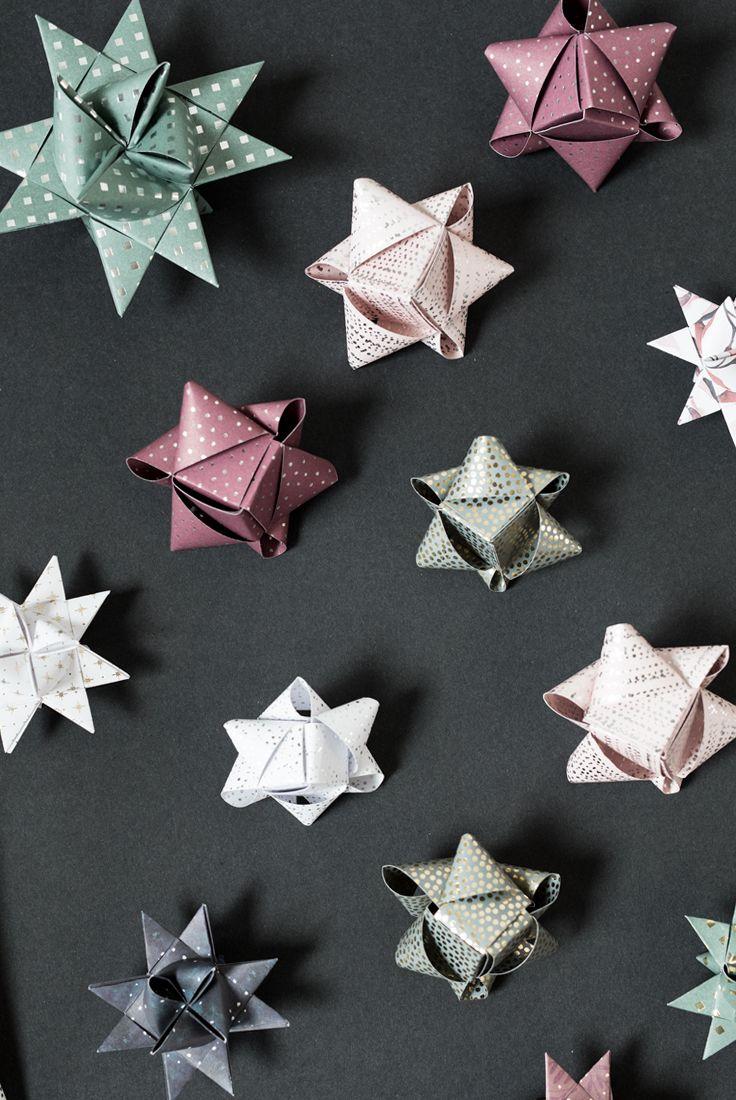DIY : How to fold paper stars by Søstrene Grene