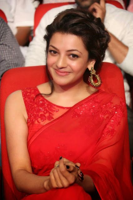 Kajal Agarwal in red saree looking sophisticated. Check out 30+ Photos of her here