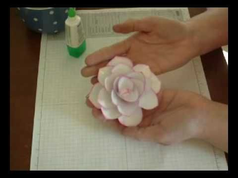 Making different colored magnolia flowers with Stampin' Up! ornament punch