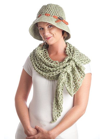 Filet Hat and Scarf crochet pattern download from Annies Craft Store ...
