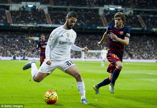 The two teams met in the reverse La Liga fixture in November when Barca won 4-0 at the Santiago Bernabeu