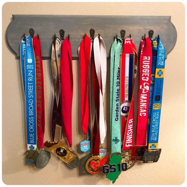 Custom Running Medal Display Holder - Weather Gray Stain Finish - Medal Swing | Sporting Goods, Fitness, Running & Yoga, Clothing & Accessories | eBay!