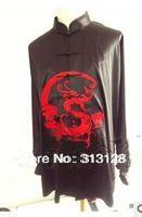 Envío gratis elegante traje negro kungfu para hombre