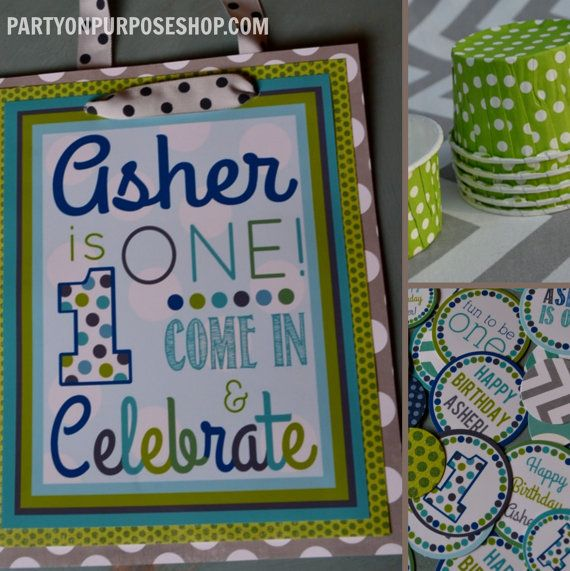 1st birthday party decorations package the asher