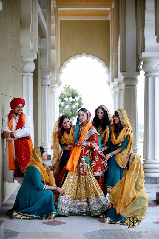 Beautiful Sikh Bride and bridegroom