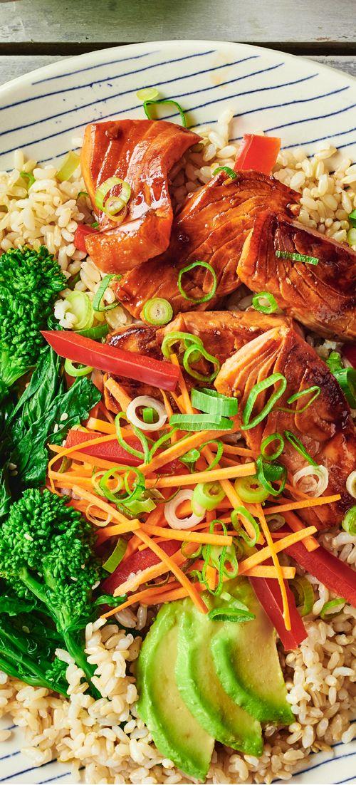 Broccoli Rabe & Maple Glazed Salmon Bibimbap - Andy Boy