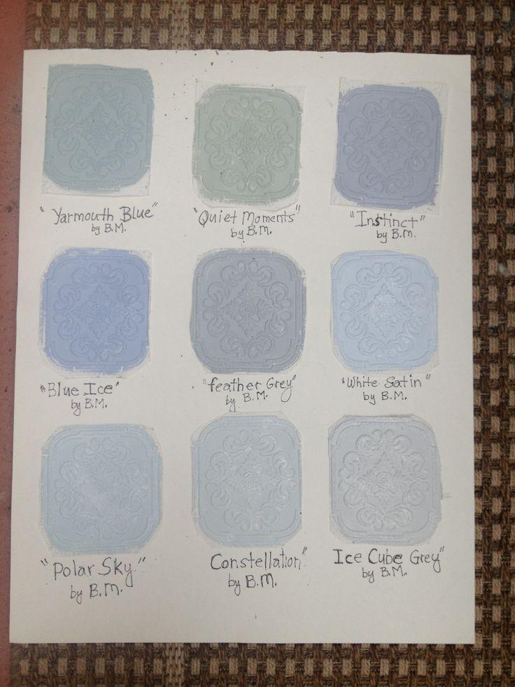 Hand Painted Benjamin Moore Grey Interior Paint Samples