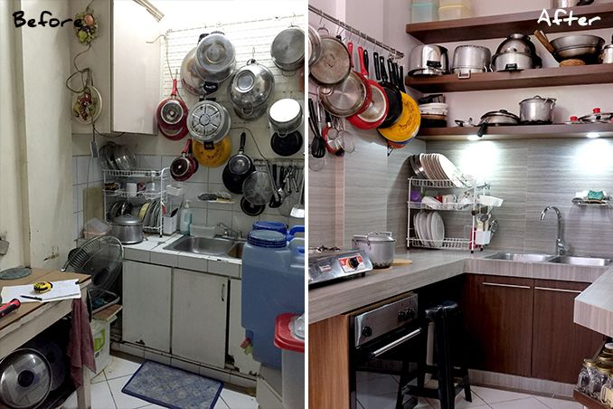 Mini makeovers a kitchen renovation in cainta rizal for Philippine kitchen designs