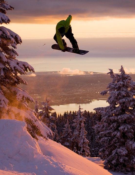 Snowboarding at Mount Seymour - BC - North Vancouver #BCITSA