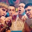 Still of James Buckley, Blake Harrison, Simon Bird and Joe Thomas in The Inbetweeners Movie