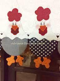 Resultado de imagen para cortinas para cocina en patchwork rojo y beich