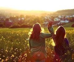 friends. family. love. field. sun. happy. women.