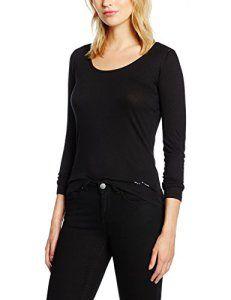 Naf Naf Poalondon 3, T-Shirt Femme^Femme, Noir, FR: 42 (Taille Fabricant: XL): Tweet Naf Naf T- Shirt. Col rond. Manche longue. Regular…