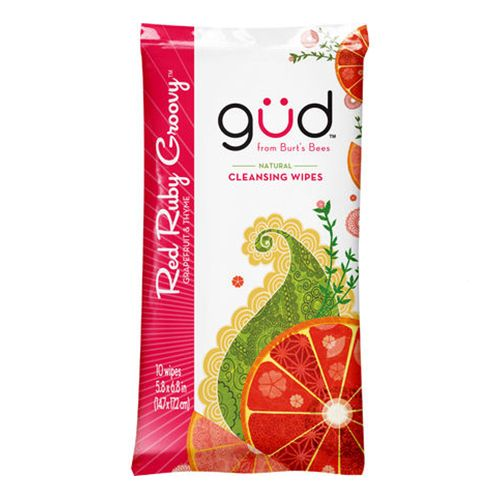 güd by Burt's Bees Red Ruby Groovy Natural Cleansing Wipes