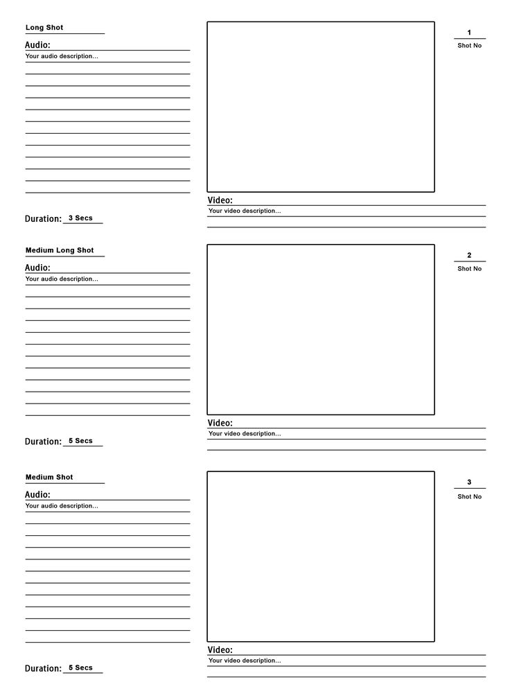 Storyboard Template PSD For Your Pre Production The Design Work 1JWqvqFd