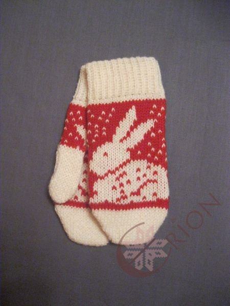 Stranded bunny mittens. So cute!!