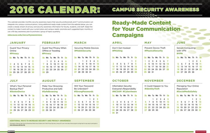 Calendar Subject Ideas : Best images about higher education information security