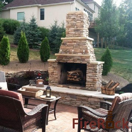 stacked outdoor fireplace best of yard garden