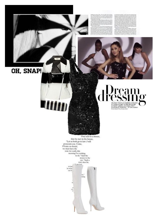 """""""I've got one less problem..."""" by createjewels ❤ liked on Polyvore featuring SCARLETT, Fendi, Rachel Gilbert, Gianvito Rossi, Rocio, ArianaGrande, musicvideo and gethelook"""