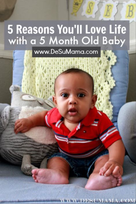 1bb777c3a79a Just wait Mom, your 5 month old baby is about to deliver some serious joy!  From their 5 month old milestones, sleep schedules and baby activities, ...