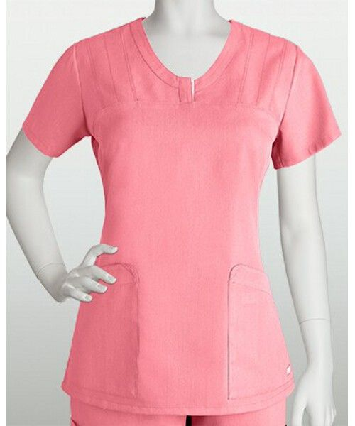 (41408) Grey's Anatomy Scrubs - 2 Pocket V-Neck Placket With Heavy Thread (Junior Fit) - Jen's Scrubs