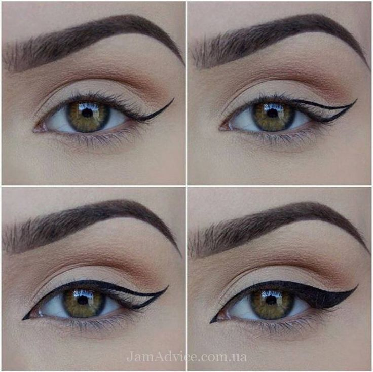 Как нарисовать стрелки на глазах?