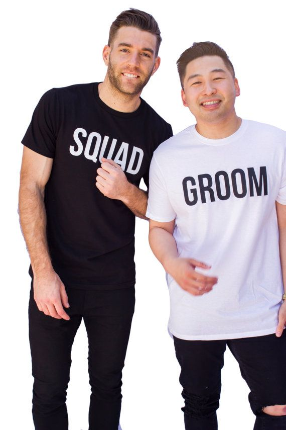 Groom and Squad Shirts  Bachelor Party Mens by ESEFApparel on Etsy