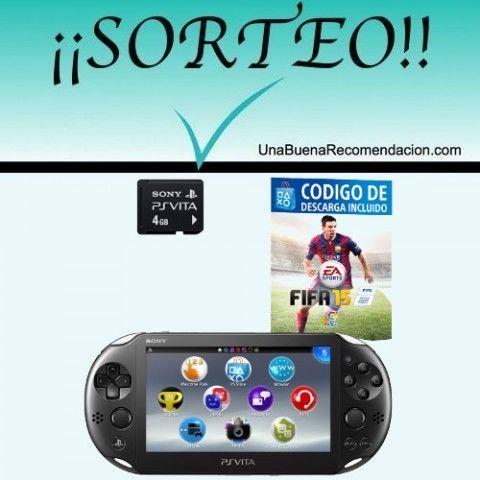 SORTEO CONSOLAC PS VITA SLIM   FIFA 15   TARJETA DE MEMORIA 4 GB
