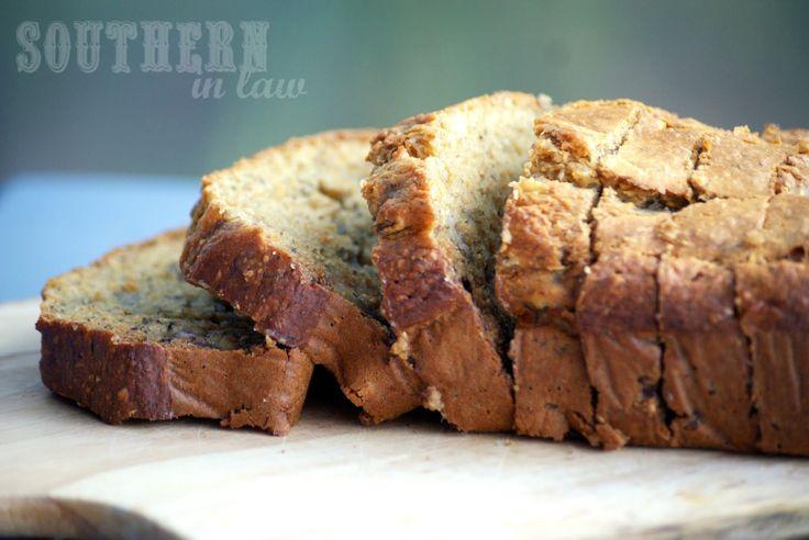 Healthy Banana Bread Recipe - Gluten Free Whole Wheat Low Fat