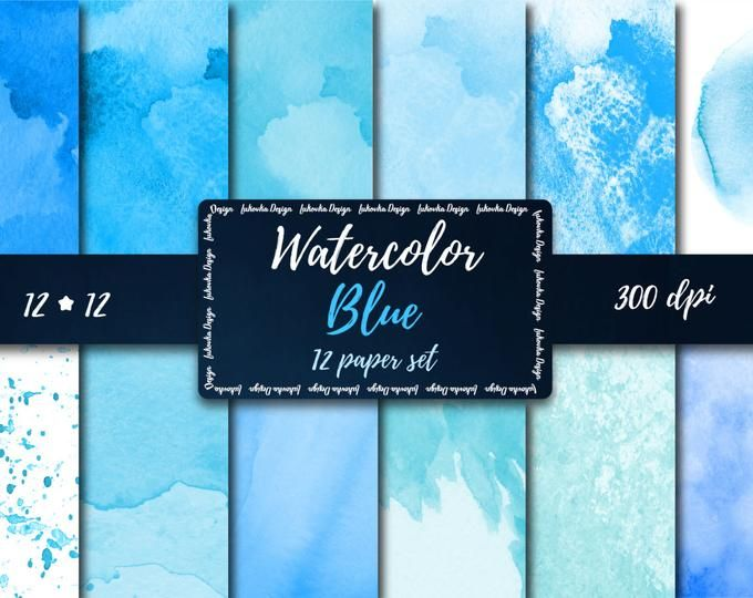 Ocean Blue Textured Background Nautical Navy Blue Digital Paper