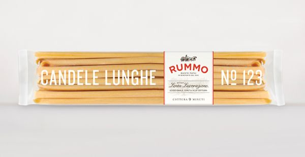 Packaging for pasta brand Rummo designed by Irving & Co.