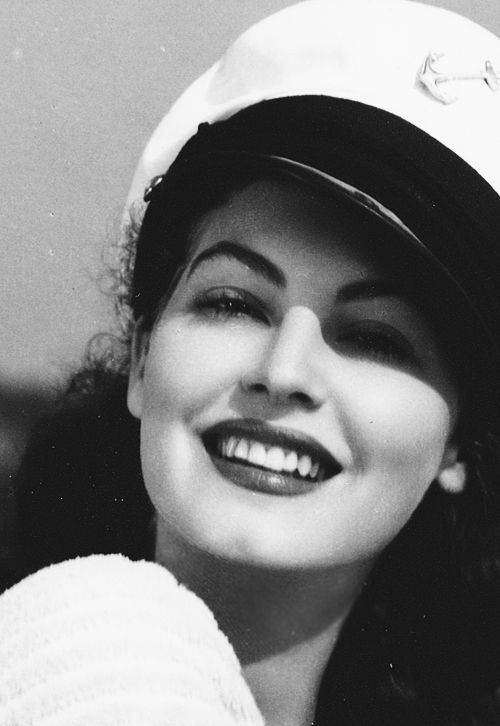 Ava Gardner being flawless in a sailor hat.
