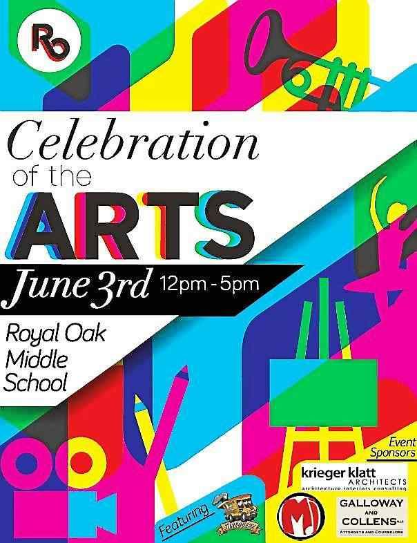 Royal Oak has always been home to artists of all sorts and all talent levels. On Saturday beginning at noon at Royal Oak Middle School arts of all sorts will be on display, on stage and all over campus for the third annual Celebration of the Arts. Mus