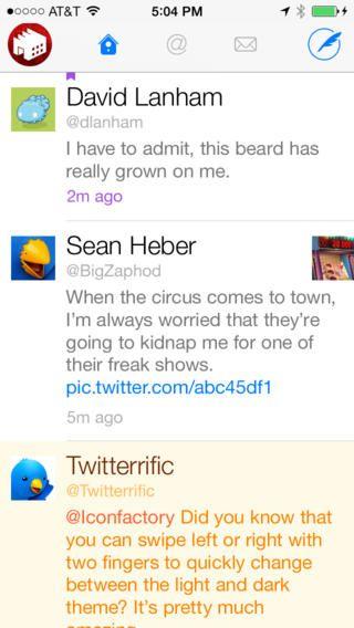 Twitterrific 5 for Twitter The Iconfactory 트위터