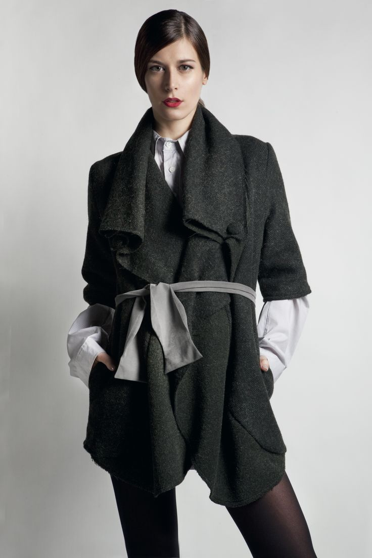 """New York I love you"" coat and ""bow-tie ""belt! shop online at www.rien.gr"