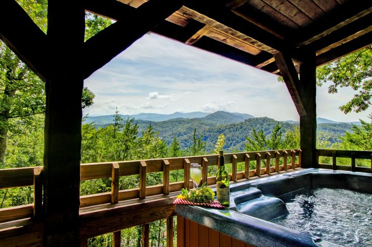 The Wildwood home is a great cabin rental, high up on the mountain, with great views of the surrounding mountains and valleys.