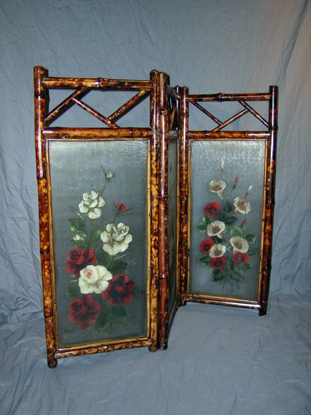 112 best images about victorian dressing screens on for Painted screens room dividers