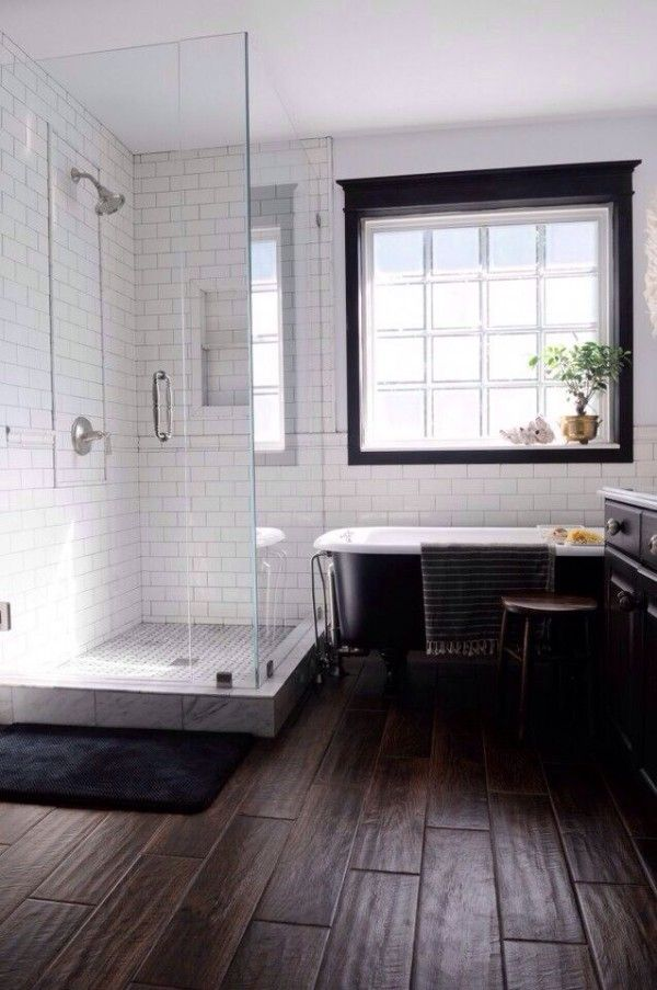 Bathroom Tile A Bathroom Floor Wood Subfloor Simple Small ...