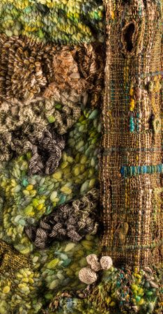 textile art knitted by Lindy D, really tactile