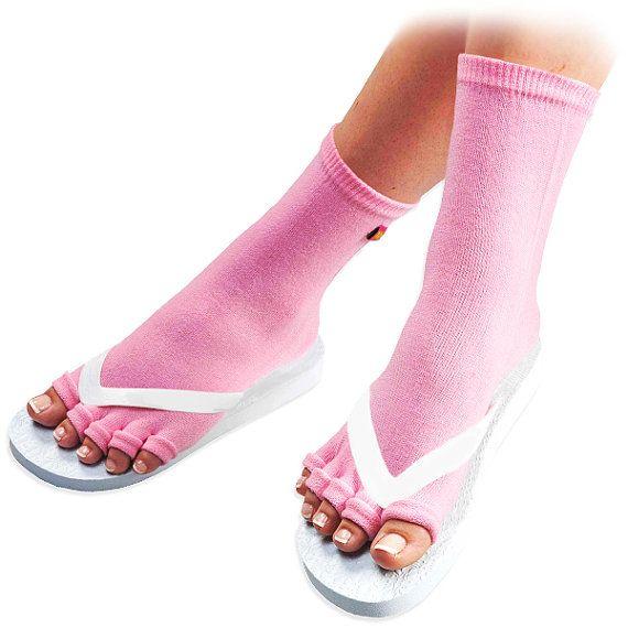 Perfect for winter pedis ..... Pedisavers Pedicure Socks with Toe Separators by Pediware on Etsy