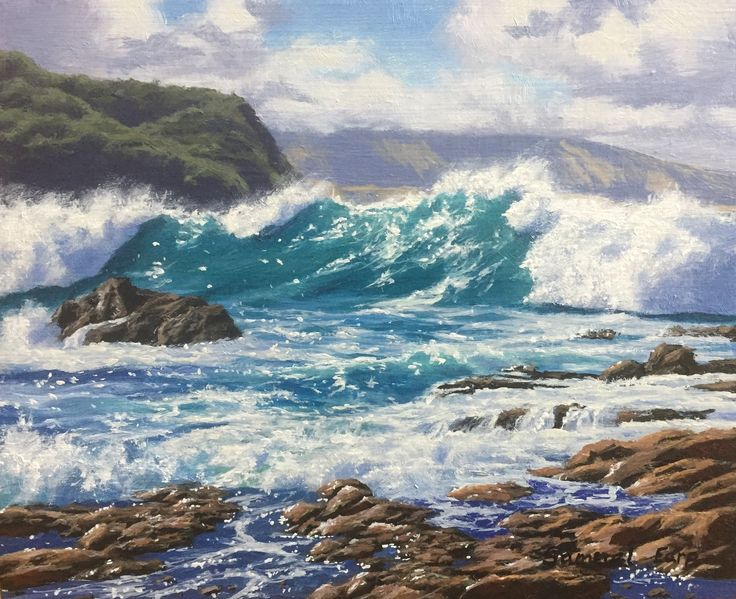 Wellington Coast New small painting for sale :)