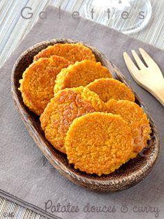 Galettes de patates douces, semoule & curry