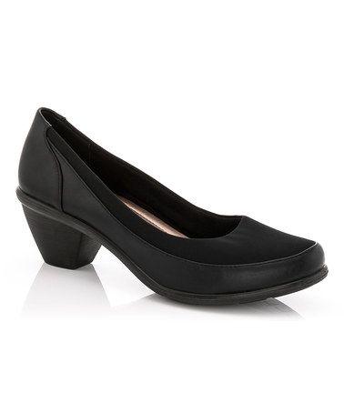 Loving this Black Stretch Jana Pump on #zulily! #zulilyfinds