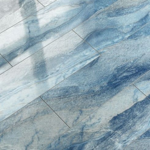 Elesgo Supergloss Blue Azul V5 Micro Groove Laminate Flooring