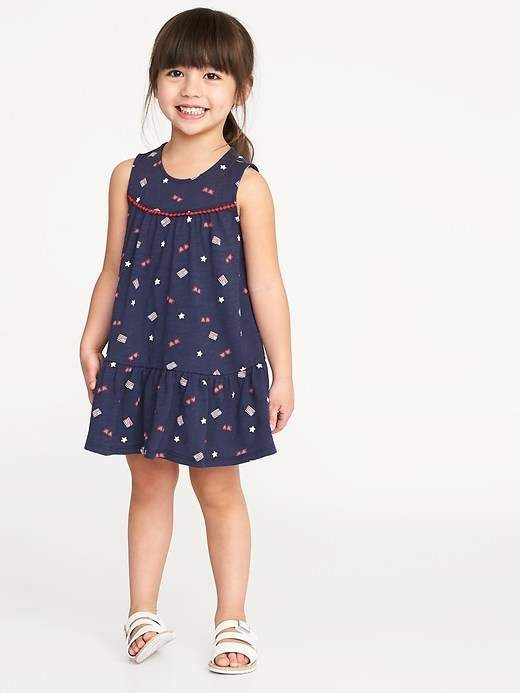 2a5d12fd97 Americana Tiered Swing Dress for Toddler Girls #Sleeveless#arm#nape ...