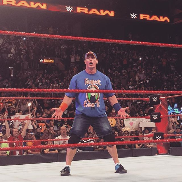 John Cena is back to Raw #raw #summerslam #wwe #tagteam #johncena #ajstyles #romanreigns #rusev #sheamus #sethrollins #deanambrose #usa #wwe #cenacomeback #comeback #nikkibella