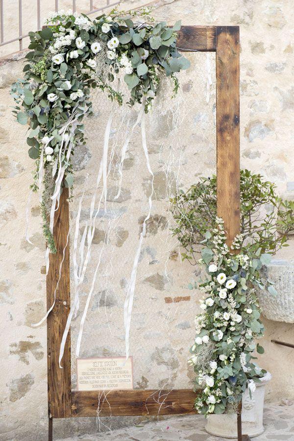 botanical decor with wood and foliage
