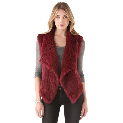 Oxblood Cheyenna fur vest from Nicholas