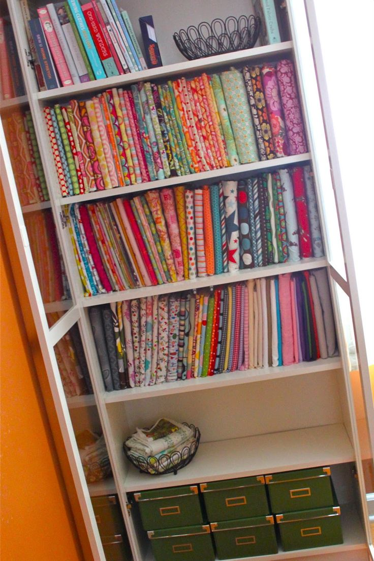 A tidy way to store all your fabric